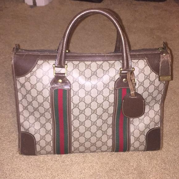 10308ec89c3c Gucci Bags   Vintage Locking Luggage Carry On Satchel   Poshmark